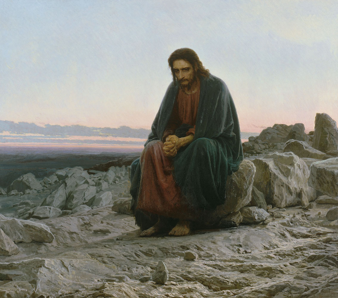 Christ in the Desert, by I.N. Kramskoi / Public Domain / Wikimedia Commons