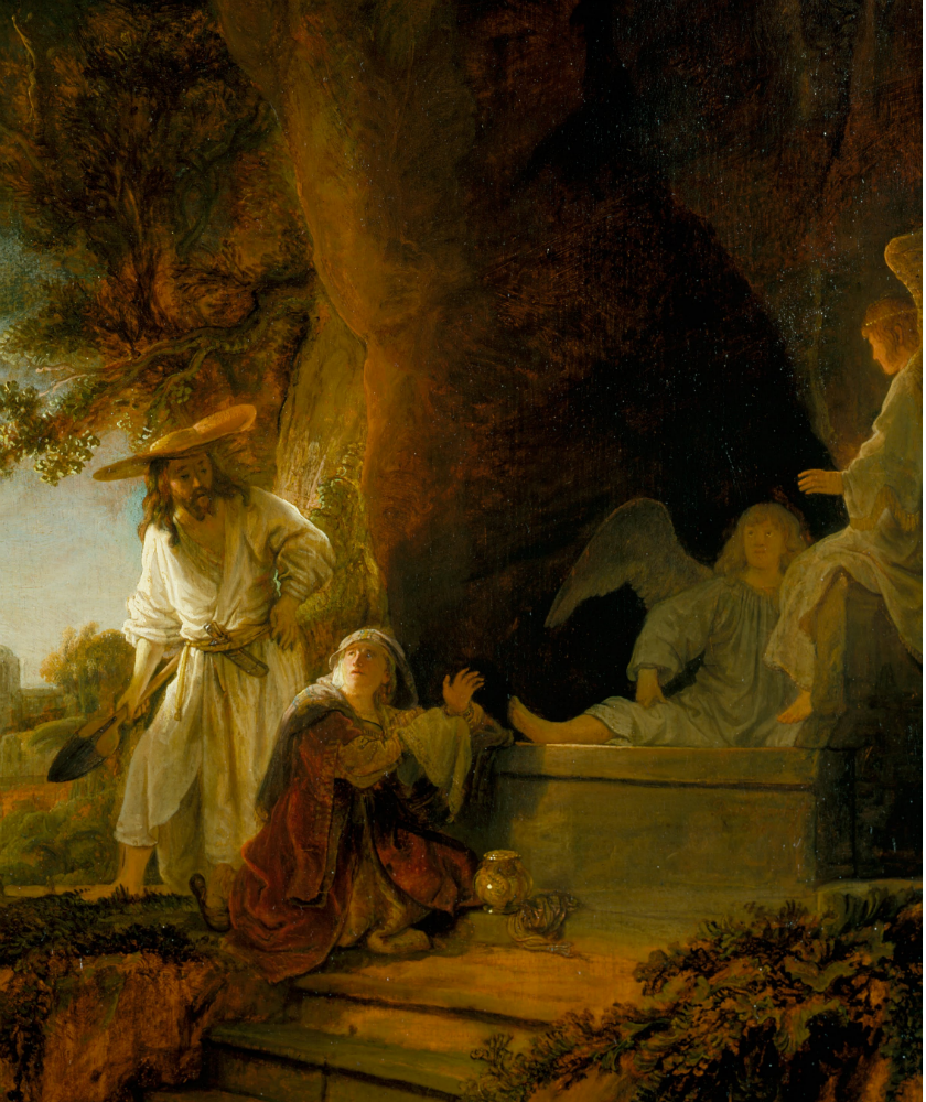 Christ and St Mary Magdalen at the Tomb, by Rembrandt / Public Domain / Wikimedia Commons