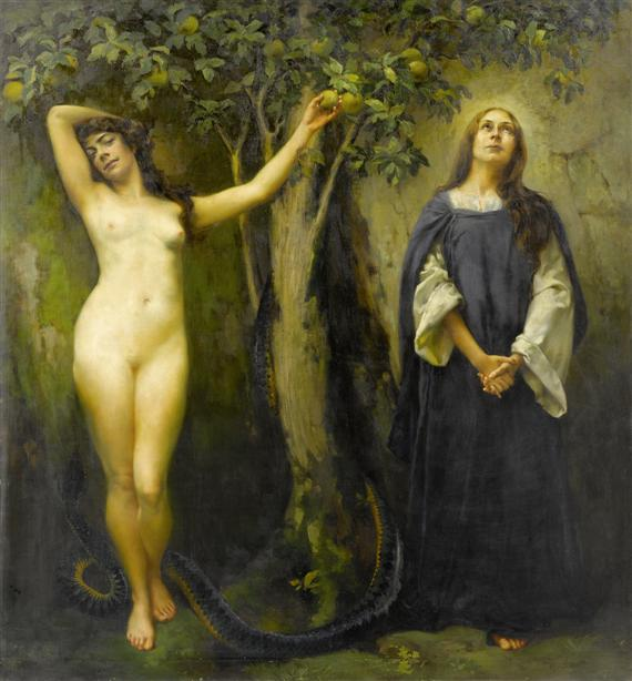 Eve and Mary, by Ferdinand Max Bredt, before 1921 / Public Domain / Wikimedia Commons