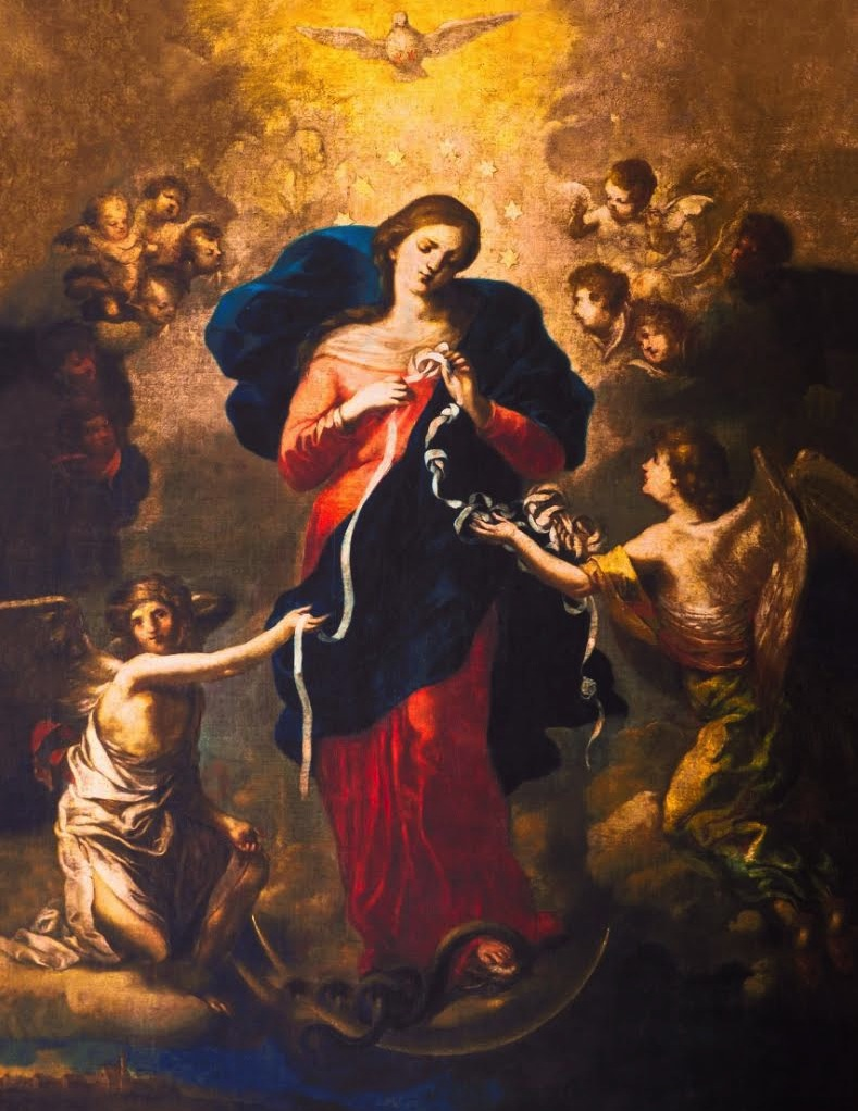 Mary, Untier of Knots, by Johann Georg Schmidtner, 1700 / Public Domain