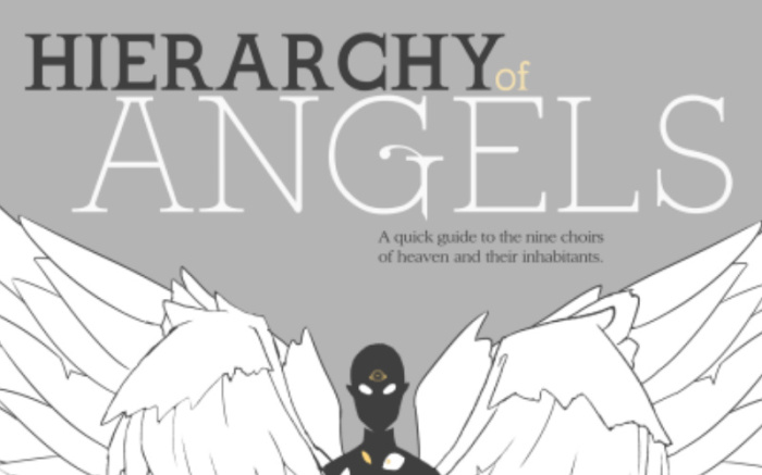 The Nine Choirs of Angels In One Beautiful Infographic