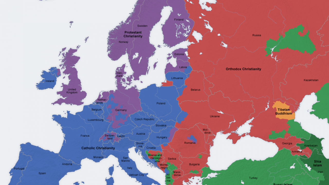 Picture of: 10 Revealing Maps Of Religion In Europe