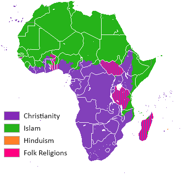 africa map of religion