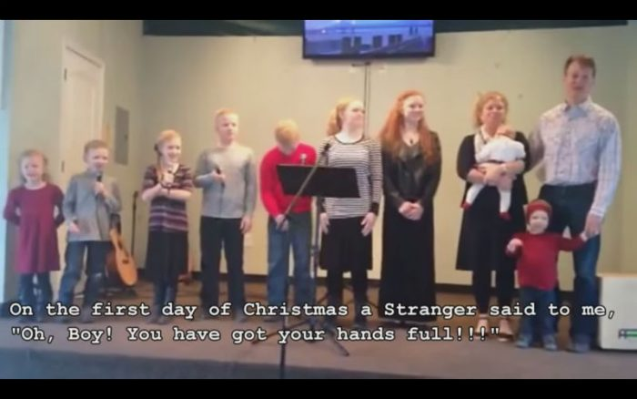 """Lol! This Large Family Parody of """"12 Days of Christmas"""" is Perfect!"""