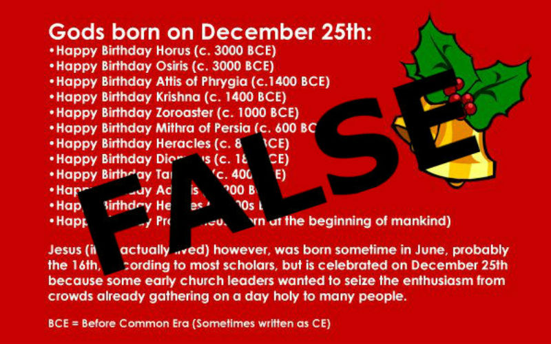 Were Many Pagan Quot Gods Quot Born On December 25th Here S The