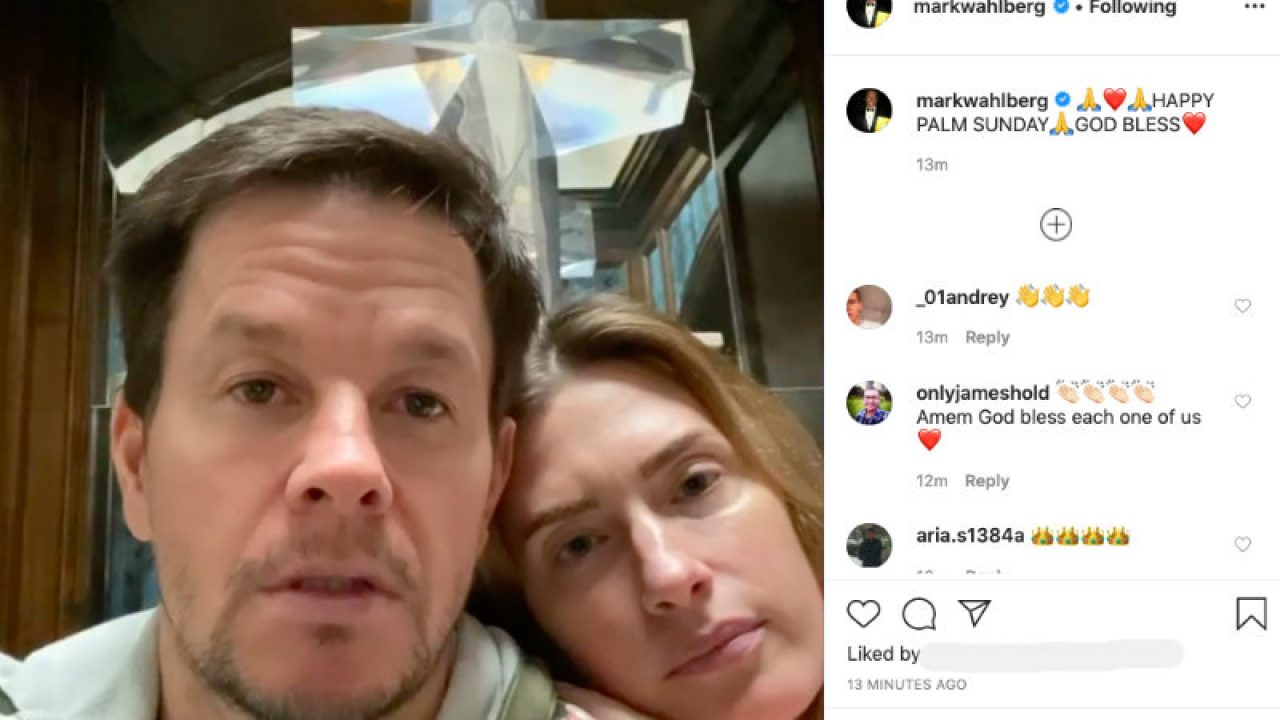 Mark Wahlberg Wife Post Palm Sunday Video Message We Still Have Faith Stay Strong